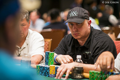 Greg Merson had chip envy at the sight of Roland Israelashvili's stack, but the veteran pro rightly reminded him that at one point Merson held a bigger stack than anybody in history