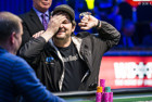 Hellmuth loses the chip lead for first time in heads-up play.