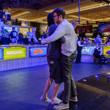 Davidi Kitai and Gordon Vayo hug it out