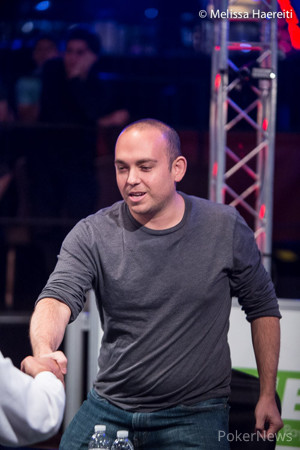 Thayer Rasmussen, pictured at the final table of Event #21.