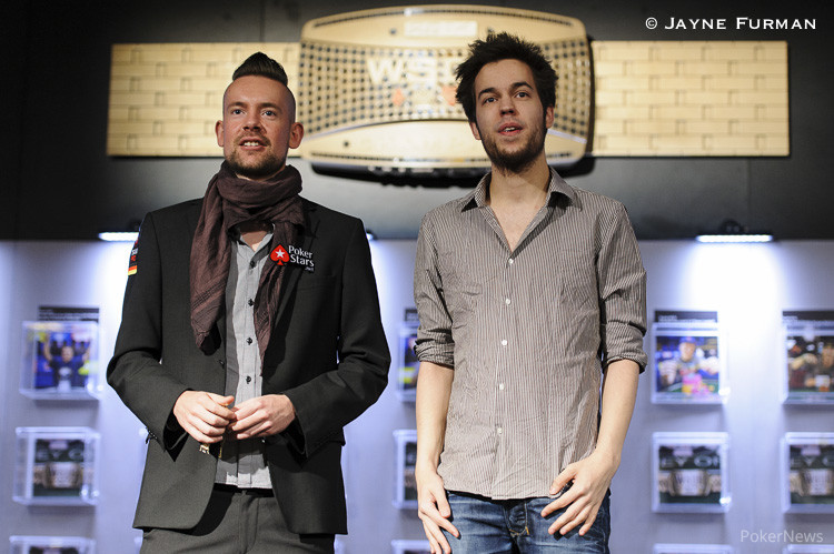 George Danzer and Dominik Nitsche at their bracelet ceremony