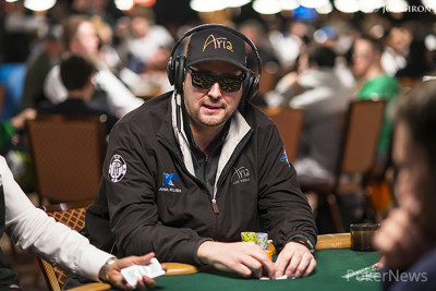Phil Hellmuth in earlier WSOP action.