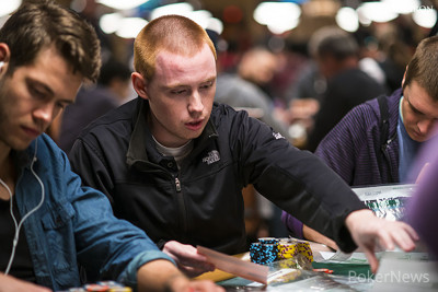 James Mackey, second in chips to end Day 1