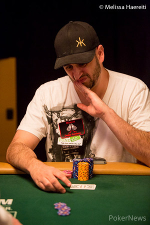 Robert Mizrachi has pole position in the race for the bracelet.