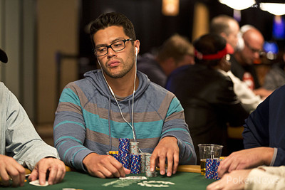 Paul Mannoni, Day 1 chip leader
