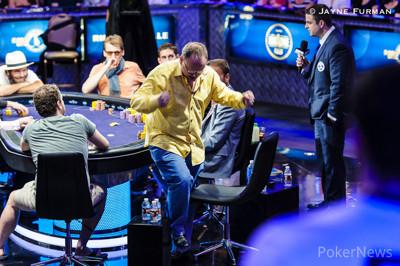 Paul Newey doubles through Tobias Reinkemeier