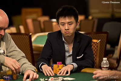 Ben Yu, not impressed, but still chip leader