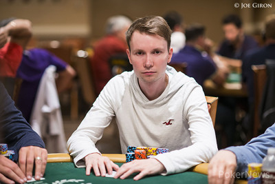 End of Day 1 Chip Leader Chris Kolla