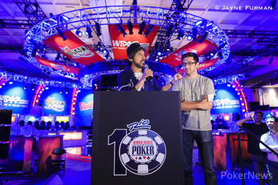 Ray Romano and his son, who is also playing in the Main Event