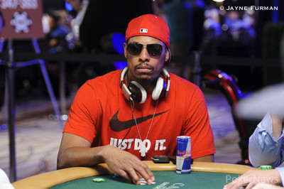 Paul Pierce still has 100 big blinds after running into kings.