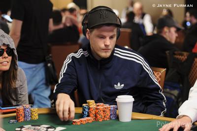 Emil Olsson in earlier WSOP action.