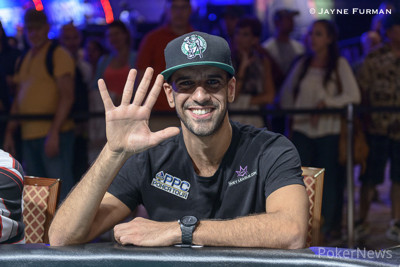 Ronnie Bardah with his 5th consecutive Main Event cash