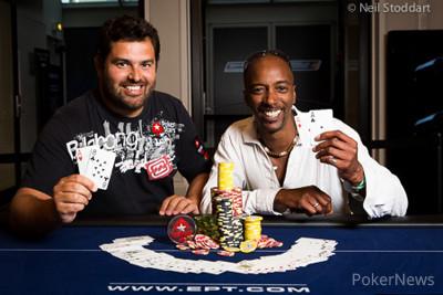 João Nunes and Bud Downes (photo: Neil Stoddart/PokerStars Blog)