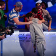 Andre Lettau gettting congratulated by his friends on winning EPT Barcelona