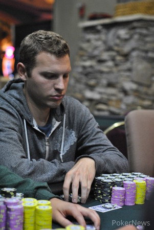 Justin Filtz busted early on Day 2.
