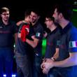 Team Italy celebrate their win