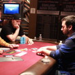 Greg Himmelbrand (left) and Justin Liberto play heads up.
