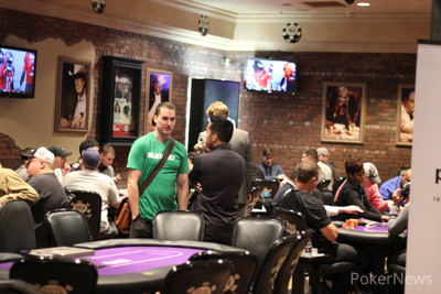 Justin Gardenhire and Tana Karn watch Day 2 of RunGood Cup Championship.