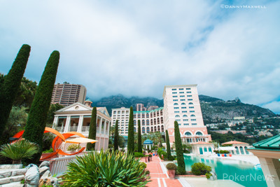 Monte Carlo Bay - clouds roll in over the mountain