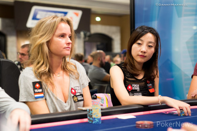 Team PokerStars Pro Yaxi Zhu (r) seen here with Fatima Moreira de Melo