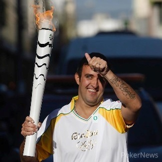 Andre Akkari Carrying The Olympic Torch