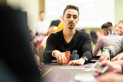 Start-of-the-day chip leader Gabriel Gavrila