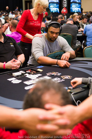 Richard Seymour, pictured earlier on in the week here at PokerStars Championship Bahamas.