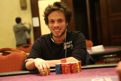 Romain Lewis, 1/5th Big Blind Short of the Chip Lead