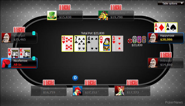Poker glossary cooler