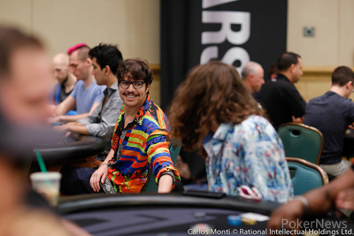 Mustapha Kanit and Igor Kurganov pictured earlier on this trip to the PokerStars Championship Bahamas. Both of the High Rollers made Day 2 of the $25,000 buy-in event.