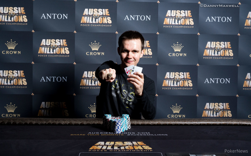 Mikita Badziakouski - $50,000 NLHE Shot Clock Six Max Aussie Millions Winner 2017