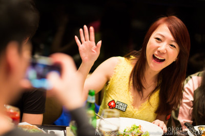 Celina Lin at a different kind of table