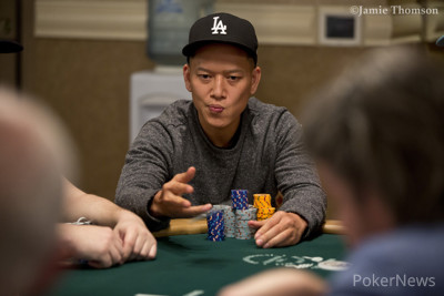 Tuan Le has one of the biggest stacks coming into Day 2