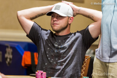 Christopher Logue will head into Day 3 as the chip leader