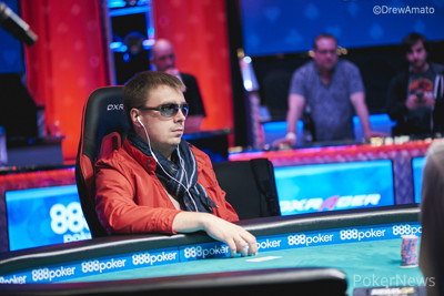 Ihar Soika during his Monster Stack final table earlier this summer