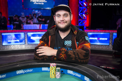 Bryan Piccioli in the 2017 WSOP Main Event