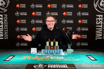 PokerStars Festival Bucharest Main Event Winner Sam Grafton