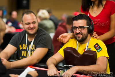 Team PokerStars Pro Andre Akkari had a strong showing on Day 1b