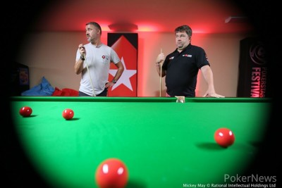 Stephen Hendry Teaches Chris Moneymaker How to Play Snooker