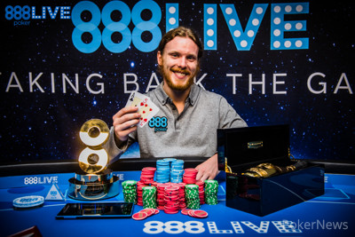 Tom Hall -  888Live Main Event WInner