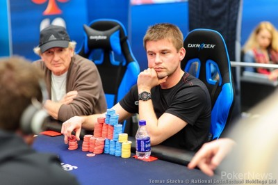 Day 1 Chipleader Byron Kaverman