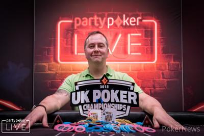 Chris Brice, winner of the 2018 partypoker LIVE UK Poker Championships Main Event