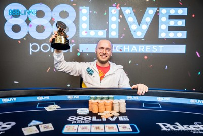 888pokerLIVE Bucharest Main Event champion Andrei Racolta