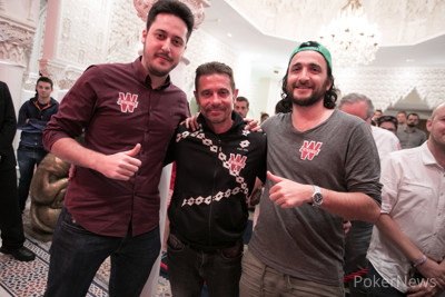 Adrian Mateos with former winners Bruno Lopes (c) and Davidi Kitai (r)