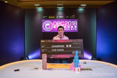 OPC Main Event Champion Xiaobo Zhou