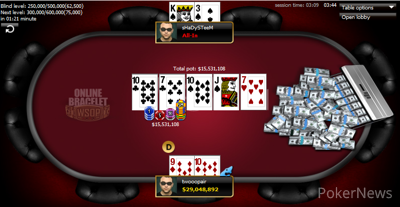 'Twooopair' takes down the bracelet in Event #10: $365 WSOP.com ONLINE No-Limit Hold'em
