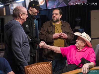 Billy Baxter, Phil Hellmuth, Todd Brunson, Doyle Brunson
