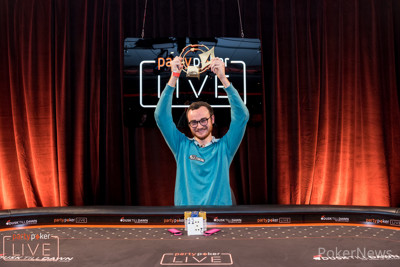 Brandon Sheils wins the partypoker LIVE MILLIONS UK Open