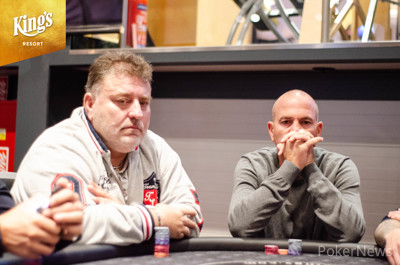 Roman Motovsky (left) busts early in Day 1D