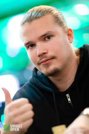 Henri Koivisto is third in chips after Day 1a in Dublin